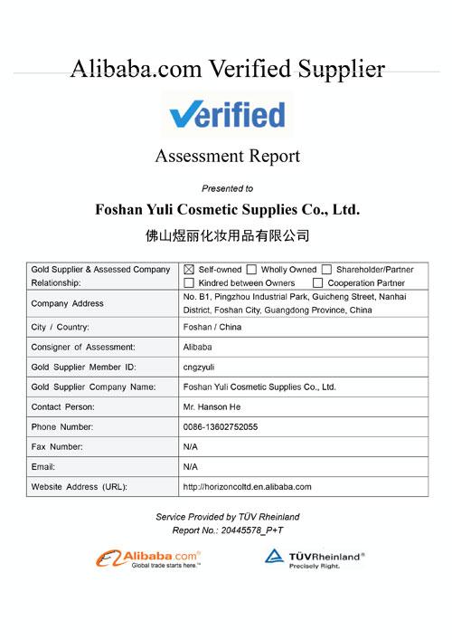 Supplier-Assessment-Report-Foshan-Yuli-Cosmetic-Supplies-Co.-Ltd.